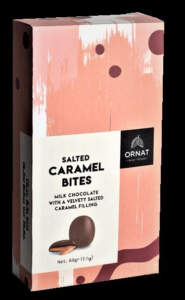 נגיסות שוקולד במילוי קרמל מלוח