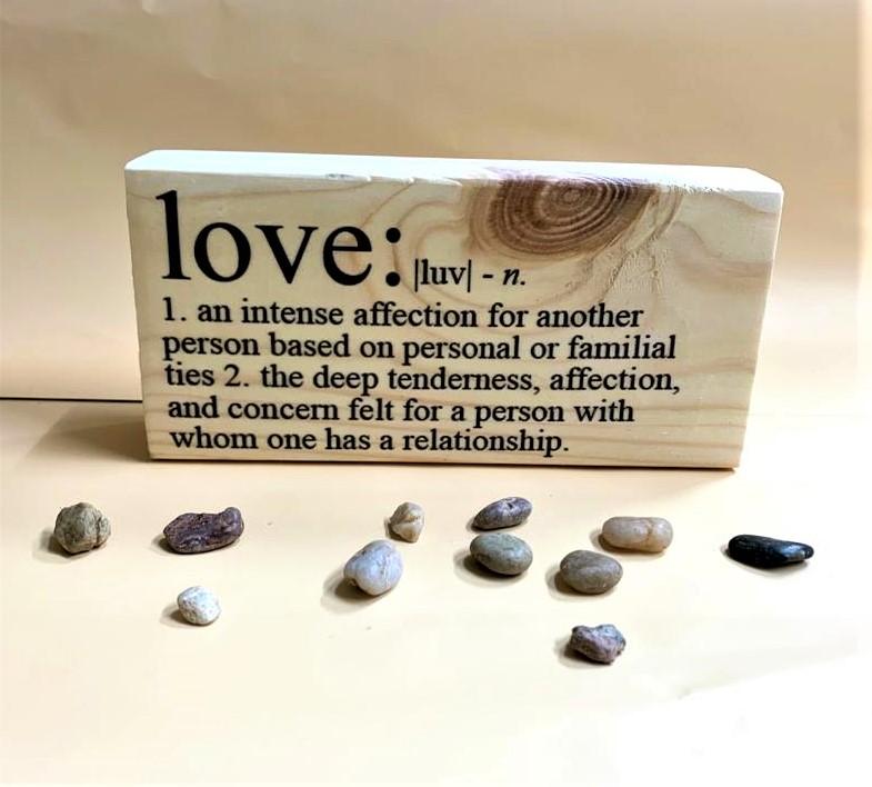 בלוק עץ אלון : Love